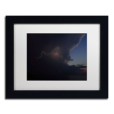 Trademark Fine Art Kurt Shaffer 'Sunset Thunderhead #3' 11 x 14 (KS0152-B1114MF)
