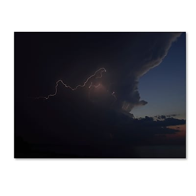 Trademark Fine Art Kurt Shaffer 'Sunset Thunderhead #3' 18 x 24 (KS0152-C1824GG)
