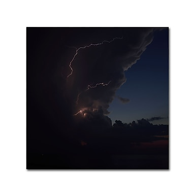 Trademark Fine Art Kurt Shaffer 'Sunset Thunderhead #2' 24 x 24 (KS0153-C2424GG)