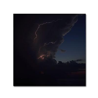 Trademark Fine Art Kurt Shaffer 'Sunset Thunderhead #2' 35 x 35 (KS0153-C3535GG)