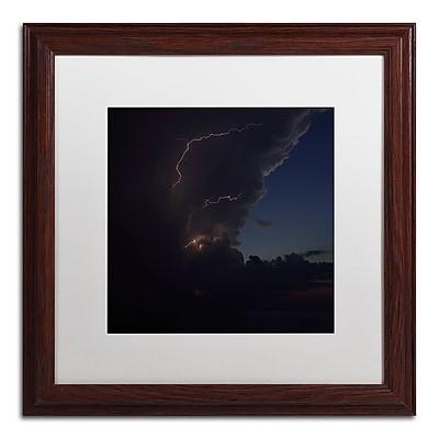 Trademark Fine Art Kurt Shaffer 'Sunset Thunderhead #2' 16 x 16 (KS0153-W1616MF)