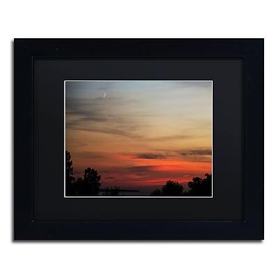 Trademark Fine Art Kurt Shaffer 'New Moon Sunset' 11 x 14 (KS0169-B1114BMF)