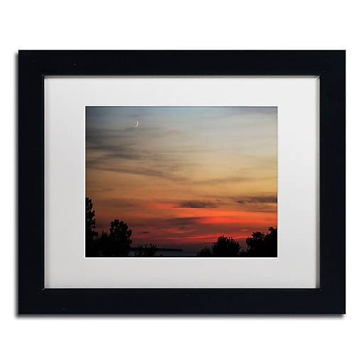 Trademark Fine Art Kurt Shaffer 'New Moon Sunset'  11 x 14 (KS0169-B1114MF)