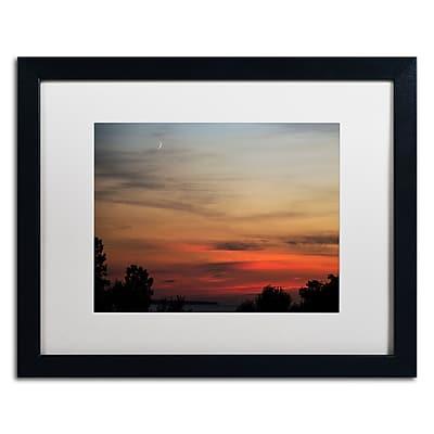 Trademark Fine Art Kurt Shaffer 'New Moon Sunset' 16 x 20 (KS0169-B1620MF)