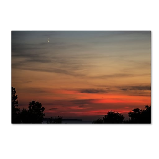Trademark Fine Art Kurt Shaffer 'New Moon Sunset'  16 x 24 (KS0169-C1624GG)