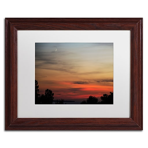 Trademark Fine Art Kurt Shaffer 'New Moon Sunset'  11 x 14 (KS0169-W1114MF)