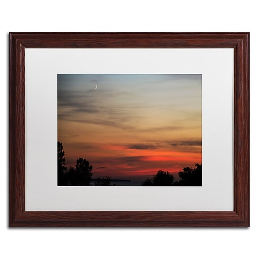 Trademark Fine Art Kurt Shaffer 'New Moon Sunset'  16 x 20 (KS0169-W1620MF)