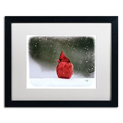 Trademark Fine Art Lois Bryan 'A Ruby in the Snow' 16 x 20 (LBR0237-B1620MF)