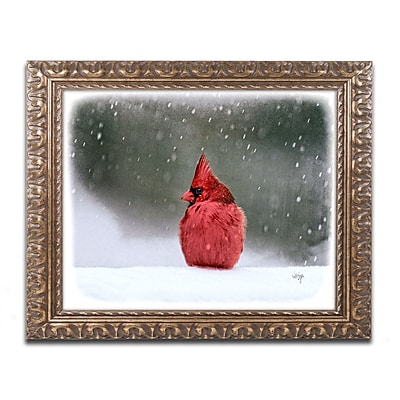 Trademark Fine Art Lois Bryan 'A Ruby in the Snow' 11 x 14 (LBR0237-G1114F)