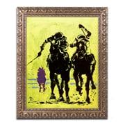 """Trademark Global Lowell S.V. Devin 'Hialeah' 16"""" x 20"""" Ornate Framed Art (LSV0014-G1620F)"""