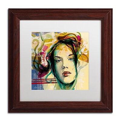 Trademark Fine Art Andrea 'Blanca Mujer' 11 x 11 (MA0600-W1111MF)