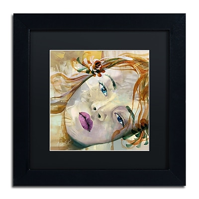 Trademark Fine Art Andrea 'Pale Blue Eyes' 11 x 11 (MA0608-B1111BMF)