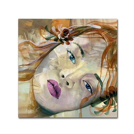 Trademark Fine Art Andrea 'Pale Blue Eyes'  35 x 35 (MA0608-C3535GG)