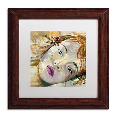 Trademark Fine Art Andrea 'Pale Blue Eyes' 11 x 11 (MA0608-W1111MF)