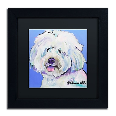 Trademark Fine Art Pat Saunders-White 'Champ' 11 x 11 (PS118-B1111BMF)