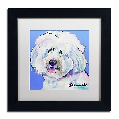 Trademark Fine Art Pat Saunders-White 'Champ' 11 x 11 (PS118-B1111MF)