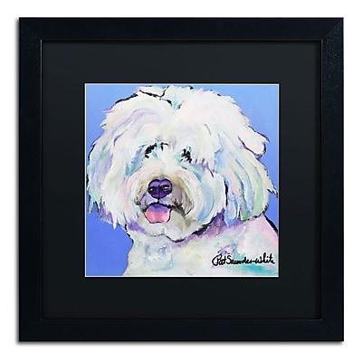 Trademark Fine Art Pat Saunders-White 'Champ' 16 x 16 (PS118-B1616BMF)