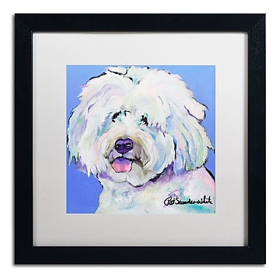 Trademark Fine Art Pat Saunders-White 'Champ' 16 x 16 (PS118-B1616MF)