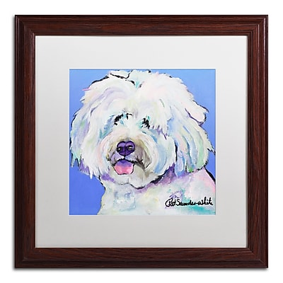 Trademark Fine Art Pat Saunders-White 'Champ' 16 x 16 (PS118-W1616MF)