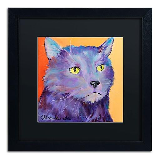 Trademark Fine Art Pat Saunders-White 'Frenchy'  16 x 16 (PS121-B1616BMF)