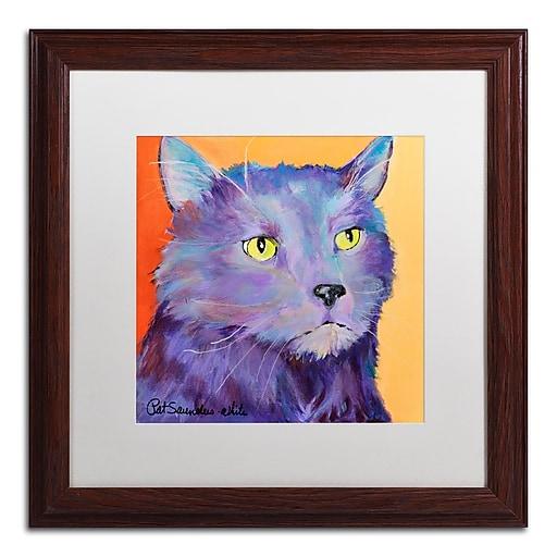 Trademark Fine Art Pat Saunders-White 'Frenchy'  16 x 16 (PS121-W1616MF)