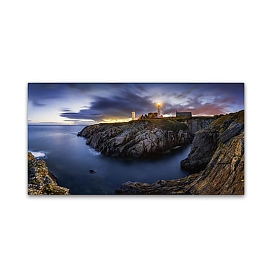 Trademark Fine Art Mathieu Rivrin 'Blue Hour in Saint Mathieu' 12 x 24 (RV0025-C1224GG)
