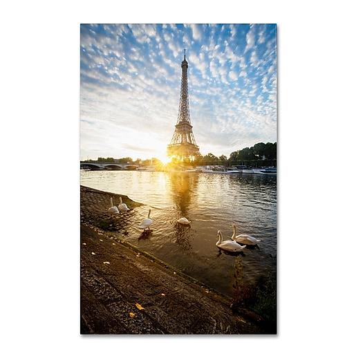 Trademark Fine Art Mathieu Rivrin 'Wake up Paris'  16 x 24 (RV0031-C1624GG)