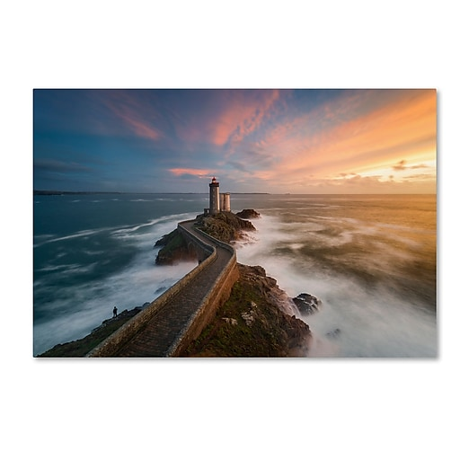 Trademark Fine Art Mathieu Rivrin 'Last Rays in Brittany'  30 x 47 (RV0037-C3047GG)