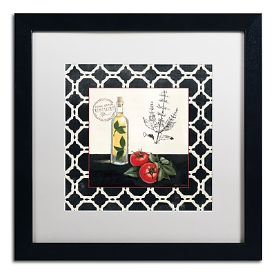 Trademark Fine Art Marco Fabiano 'Basil and Tomatoes' 16 x 16 (WAP0143-B1616MF)