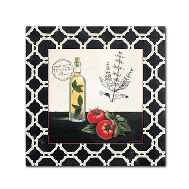 Trademark Fine Art Marco Fabiano 'Basil and Tomatoes' 14 x 14 (WAP0143-C1414GG)