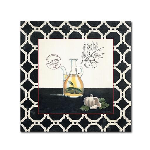 Trademark Fine Art Marco Fabiano 'Olive Oil and Garlic'  18 x 18 (WAP0144-C1818GG)