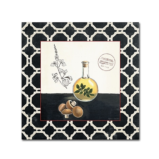 Trademark Fine Art Marco Fabiano 'Oregano and Mushrooms'  14 x 14 (WAP0145-C1414GG)