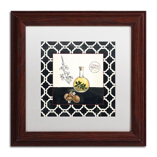 Trademark Fine Art Marco Fabiano 'Oregano and Mushrooms'  11 x 11 (WAP0145-W1111MF)