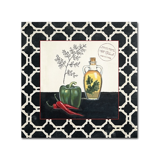 Trademark Fine Art Marco Fabiano 'Parsley and Peppers'  18 x 18 (WAP0146-C1818GG)
