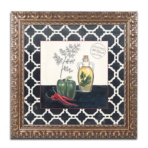 Trademark Fine Art Marco Fabiano 'Parsley and Peppers'  16 x 16 (WAP0146-G1616F)