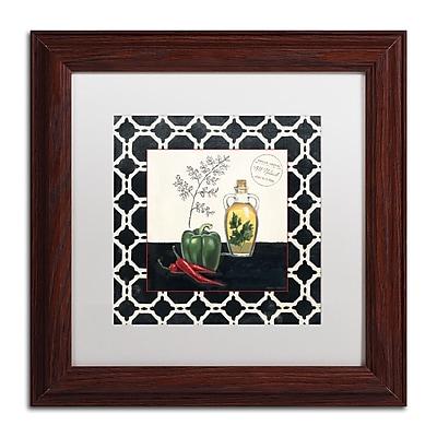 Trademark Fine Art Marco Fabiano 'Parsley and Peppers' 11 x 11 (WAP0146-W1111MF)