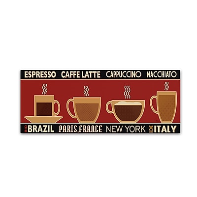 Trademark Fine Art Pela Studio 'Deco Coffee Panel I' 10 x 32 (WAP0173-C1032GG)