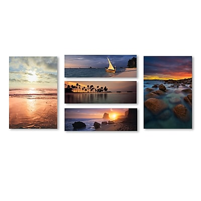 Trademark Fine Art Beach Scenes Wall Collection 12 x 19 (WC0012-SET-5)