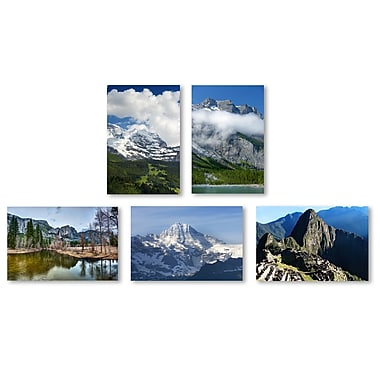 Trademark Fine Art Mountain Ranges Wall Collection 12 x 19 (WC0013-SET-5)