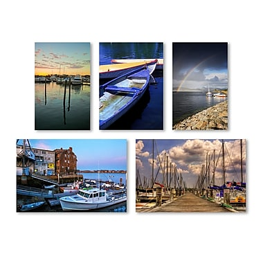 Trademark Fine Art Boats Wall Collection 16 x 24 (WC0015-SET-5)
