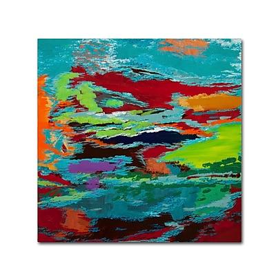 Trademark Fine Art Hilary Winfield 'Hidden Pathway' 14 x 14 (ALI0720-C1414GG)