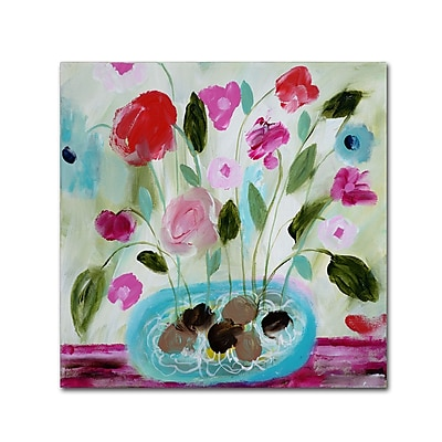 Trademark Fine Art Carrie Schmitt 'Winter Blooms II' 14 x 14 (ALI0794-C1414GG)