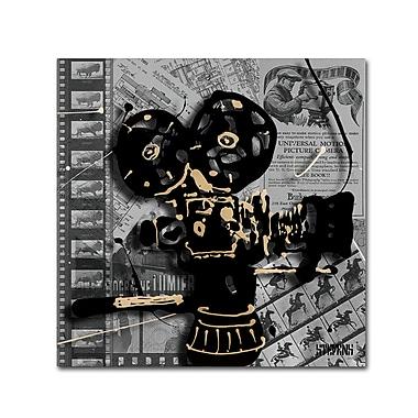 Trademark Fine Art Roderick Stevens 'Movie Camera' 18 x 18 (RS1002-C1818GG)