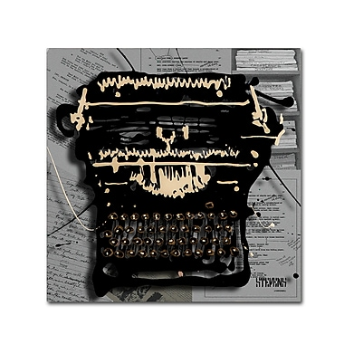 Trademark Fine Art Roderick Stevens 'Movie Typewriter' 24 x 24 (RS1005-C2424GG)