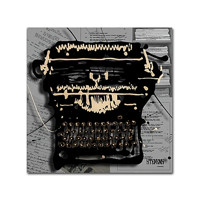 Trademark Fine Art Roderick Stevens 'Movie Typewriter' 14 x 14 (RS1005-C1414GG)