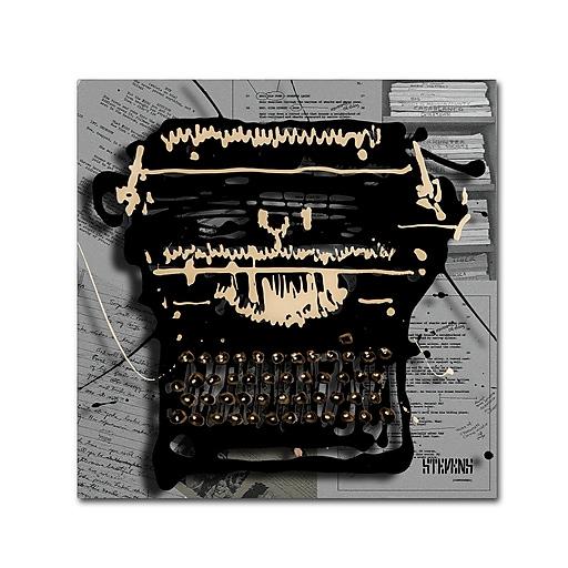 Trademark Fine Art Roderick Stevens 'Movie Typewriter'  24 x 24 (RS1005-C2424GG)