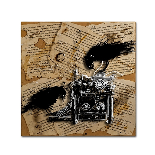 Trademark Fine Art Roderick Stevens 'Quoth the Raven 1'  14 x 14 (RS1010-C1414GG)