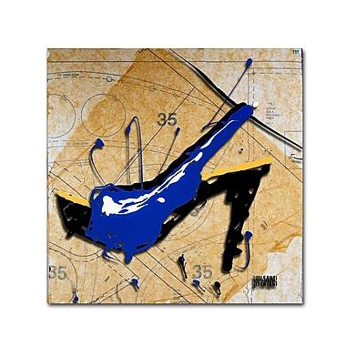 Trademark Fine Art Roderick Stevens 'Blue Heel' 14 x 14 (RS978-C1414GG)