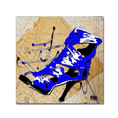 Trademark Fine Art Roderick Stevens 'Blue Strap Boot' 24 x 24 (RS979-C2424GG)