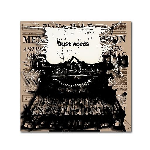 Trademark Fine Art Roderick Stevens 'Just Words 2'  14 x 14 (RS983-C1414GG)